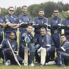 Boys in blue: The New York Police Department team, which was formed just two years ago, lost to Australia yesterday at Shaw's Bridge