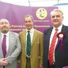 Brian Higginson and Nigel Farage