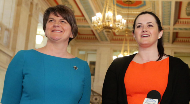 First Minister Arlene Foster with Justice Minister Claire Sugden