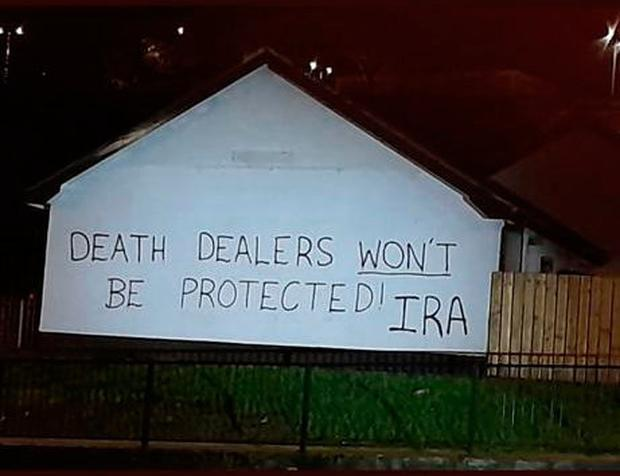 Graffiti which appeared in Derry earlier this year