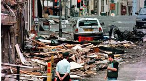 The horrific aftermath of the Omagh bomb