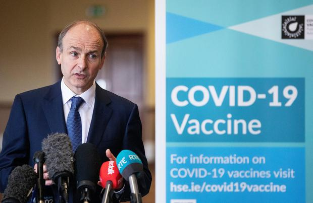 ENDGAME: Irish Taoiseach Micheal Martin hopes to lift Covid restrictions at the end of the month