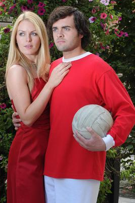 Actor Aidan O'Neill, who plays George Best in Dancing Shoes -The George Best Story, with Alana Kerr who plays Miss World