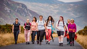 Orla Campbell (third from left) out walking with Wild Wanderers NI