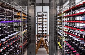 the Wine cellar in the restaurant