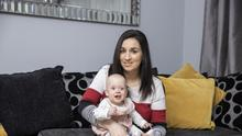 THRIVING: Mechelle Hammond with her baby Roise who was born prematurely