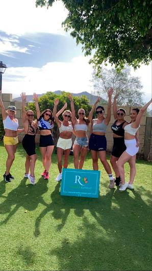 PARADISE: Some of the girls who travelled to Tenerife last month for Nicole's first retreat