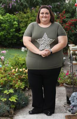 Weight watchers Daune Allen from Portaferry, who had her weight loss program interrupted by the covid-19 outbreak. Photo by Peter Morrison