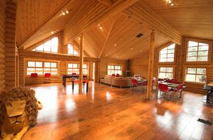 The 3,000 square foot log cabin located at the foot of the Mourne Mountains in Newcastle