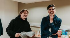 Lewis Capaldi and JC Stewart