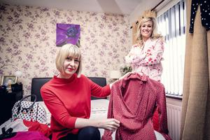 Samara Prentice with Helen Carson at home on March 24th 2020 (Photo by Kevin Scott for Sunday Life)