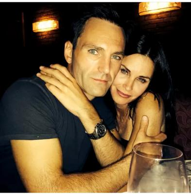 Actress Courteney Cox and musician Johnny McDaid of Snow Patrol