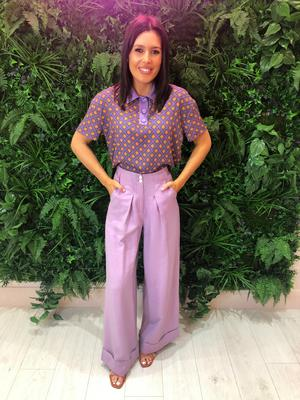 Click through the gallery for my favourite pieces... lilac wide leg trouser £45 purple collar polo £28