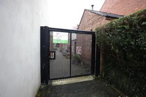 Wildflower Alley, a gated entry in the Holyland area of south  Belfast