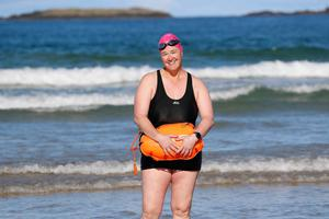 Nicole Morelli who helped formed the Menopausal Mermaids sea swimming group. Picture Colm O'Reilly Sunday Life