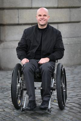 Mark Pollock at Trinity College in Dublin 9th November 2015. Photographed by Peter Macdiarmid for the Mark Pollock Trust.
