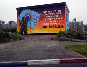 A new UDA mural in the Glenfada area of Carrickfergus. Photo Colm Lenaghan/Pacemaker Press