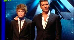 Eoghan Quigg and Simon Cowell