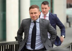 Carl Frampton arrives in court