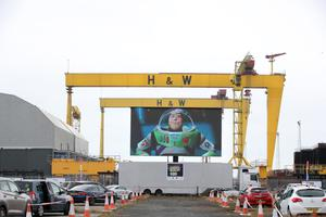 Toy Story screening at the drive-in cinema at Titanic.