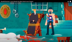 The animation depicting  the loyalist murder gang the Shankill Butchers