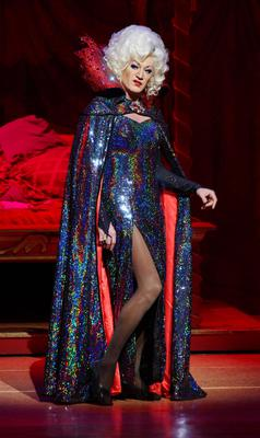 Lily Savage (also known as Paul O'Grady) performs as the Wicked Queen.