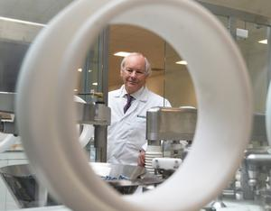 Dr Peter Fitzgerald Managing Director of Randox Laboratories at  Randox Science Park in Antrim.
