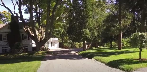 The private road leading to Liam's Neeson's New York property