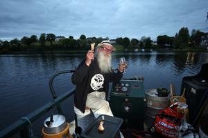 Maco McIntyre on his barge.