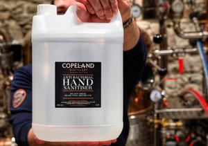 Copeland Gin Distillery have made anti bacterial hand sanitiser.