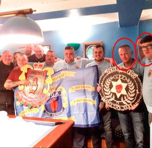 McKee right with racist thug  Stephen Croft, also circled