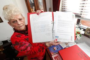 Poetry writing  North Belfast pensioner Mavis Rodgers first began sending her poetry to celebrities around the world, she could never have imagined what the response to her writing would be.