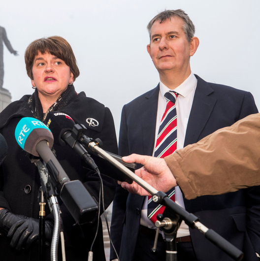 Poots with Arlene Foster