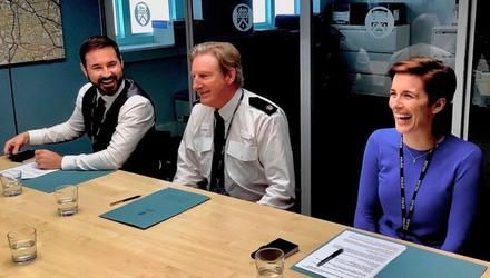 VOW: Martin Compston, Adrian Dunbar and Vicky McClure on the Line of Duty set