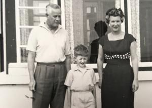Julian Simmons with his parents Alan and Pearl