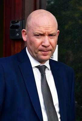 Detective Chief Inspector Dunny McCubbin speaking at PSNI Headquarters about the shooting at Bushmills Road in Coleraine that left a 61 year-old woman critically injured