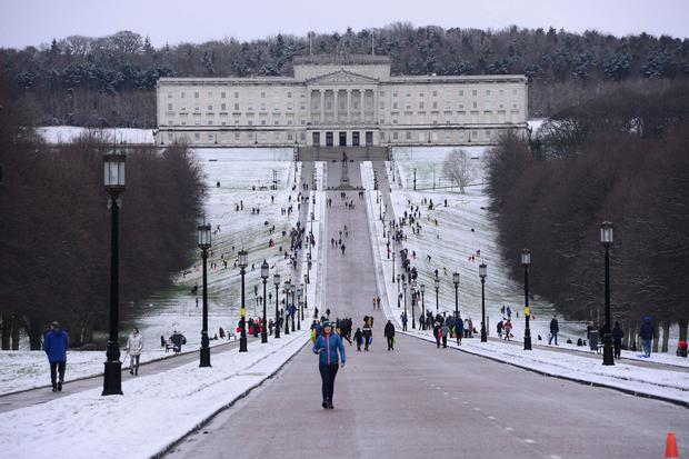 Snow and ice has been forecast to hit Northern Ireland in the run up to Easter [stock image].