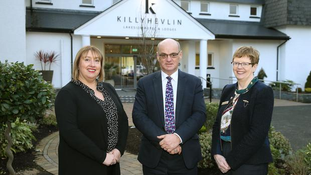 Leigh Watson, Director; David Morrison, General Manager and Jackie Wright, Director, Killyhevlin Hotel, Enniskillen.
