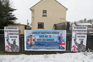 SINISTER: Signs in Dungannon warning of a loyalist 'fight'