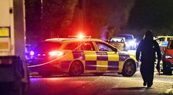 Pacemaker Press 16/01/2020 Police and ATO at the scene of a security alert on the Lurgan Road near Maple Park in Crumlin , Co Antrim on Thursday evening, A number of homes have been evacuated. Pic Colm Lenaghan/Pacemaker