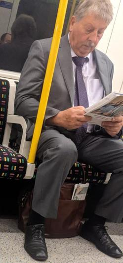 Wilson flaunts health advice by going maskless on the London Tube