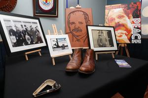 Guns and memorabilia of the UVF and Red Hand Commandos which were part of the exhibition of Loyalist artefacts during the history of the Northern Ireland conflict held in the Raven Social Club in East Belfast.