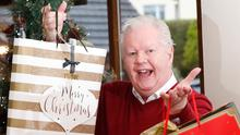 Julian Simmons getting into the festive spirit