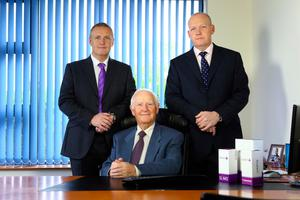 TG Eakin chief executive officer Paul Eakin (right), company chairman Tom Eakin (centre) and managing director Jeremy Eakin (left)