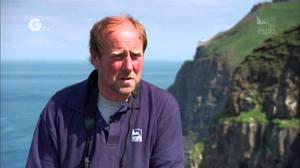 Liam McFaul is the RSPB warden on Rathlin Island