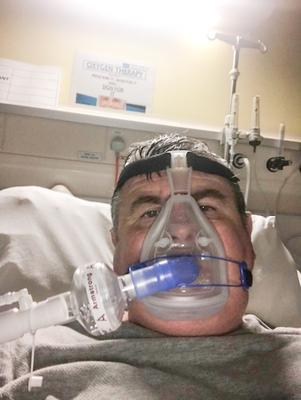 Belfast engineer Brendan Fay (55) in hospital on Oxygen before being moved to ICU for COVID-19 treatment. Brendan is still recovering after being hit hard by Covid-19 in March.