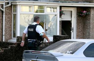 The scene in Coleraine following a shooting in the town