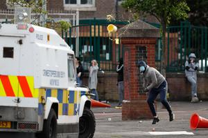 Rioting at North Queen Street in Belfast. Picture Colm O'Reilly