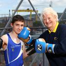 Kian Bittles (Antrim Boxing Champion) and Mary Peters