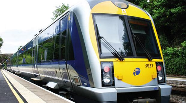 A large scale fight broke out on a train bound for Portadown on Saturday evening
